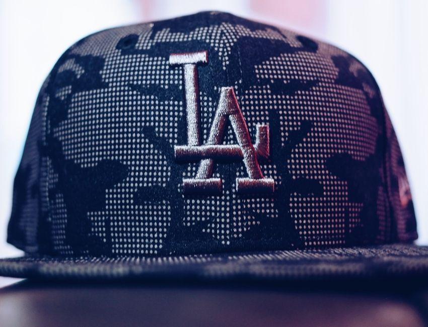 basebollkeps bordyr LA